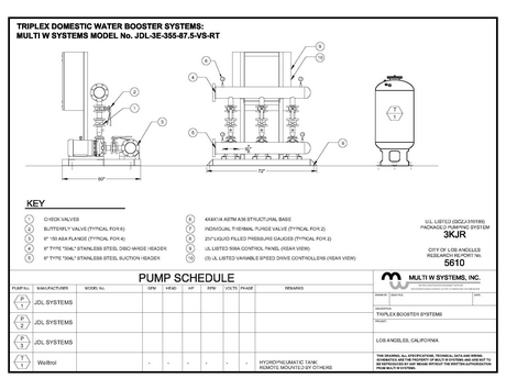 water bootster system diagram